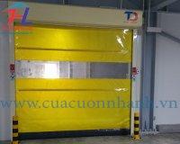 Lắp đặt cửa cuốn nhanh PVC - Nhà máy Bánh Vàng