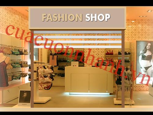 Cửa cuốn cửa cuốn trung tâm thương mại AustVision nan pc 330